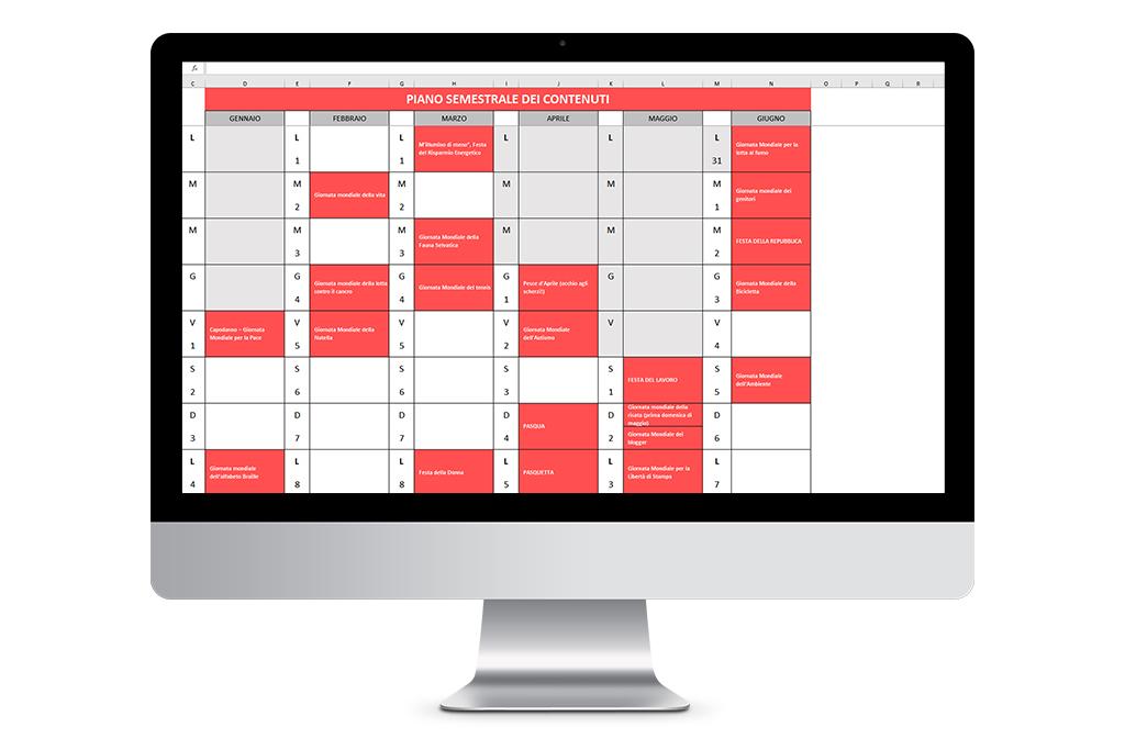 Calendario editoriale Social 2021